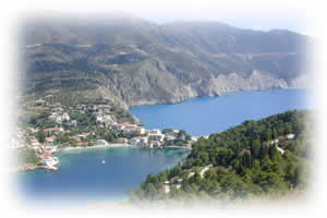 This is a view of Assos easily visited when you book our car hire