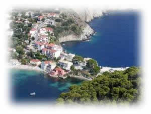 This is Assos Kefalonia easily visited with our car hire
